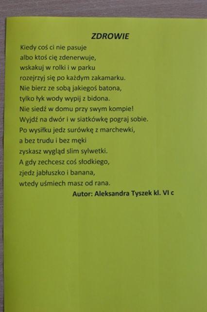 Tydzień Zdrowia Szkoła Podstawowa Nr 8 W Chełmie